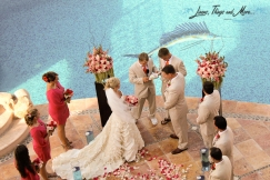 In Villa Cabo wedding ceremony