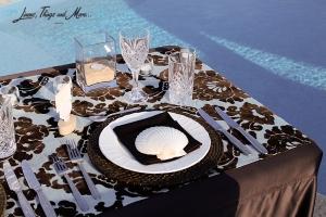 Los Cabos Pool side dinner set-up
