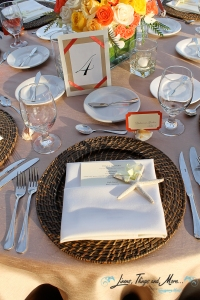 Los Cabos Event chargers and napkins