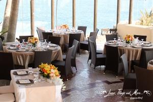 Sunset Da Mona Lisa Wedding decor and linens