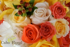 Wedding floral design Sunset Da Mona Lisa by Cabo Floral Studio