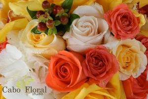 Wedding floral design Sunset Da Mona Lisa by Cabo Floral Studio