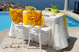 Special event High end yellow chair covers