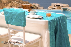 Los Cabos event linen and decor design