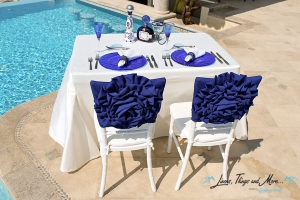 Blue and off white linen collection and design Los Cabos