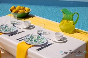 yellow breakfast decor Cabo