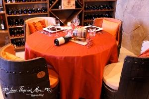 Cabo wine cellar dinner decor