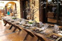 Garden style wedding set-up brown and silver Cabo