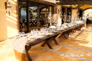 Elegant wedding decor in Cabo