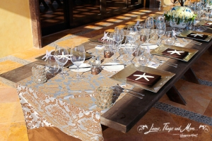 High end runner design for cabo wedding decor