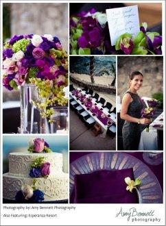 wedding decor eggplant Esperanza Resort