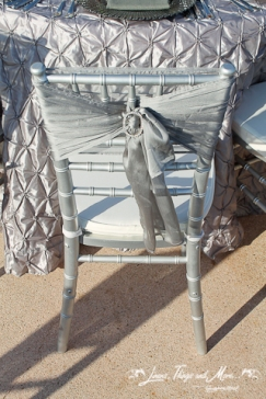 silver chiffon chair band touch of class for your Cabo wedding