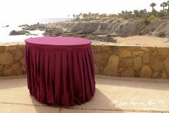 Eggplant Cake table wedding Esperanza Resort Los Cabos