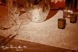 Detail fabric runner Los Cabos event and wedding design