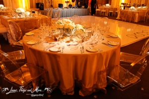 High end Champagne linen for wedding decor Cabo