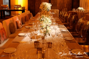 Imperial wedding table champagne at Secret Marquis Cabo