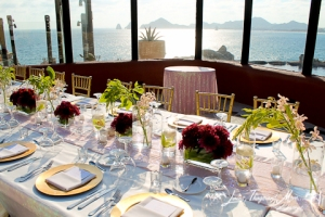 high end wedding set-up and details Los Cabos