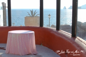 custom wedding cake table linen Cabo