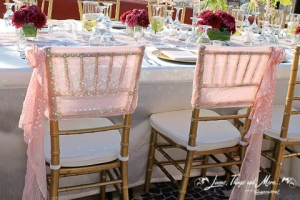 Bride and groom chair details Sunset Da Mona Lisa Cabo