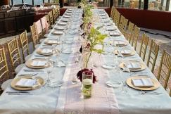 Custom Imperial table design and decor at Sunset Da Mona Lisa