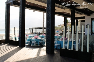 Cabo Azul Javier restaurant wedding decor
