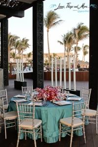 Javier restaurant terrace wedding decor turquoise