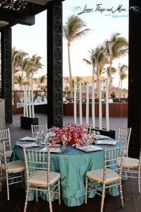 Javier restaurant terrace wedding decor turquoise