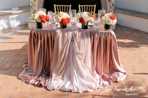 Design bride and groom table One & Only Palmilla Los Cabos