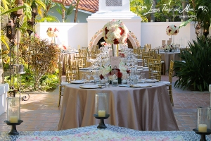 Pink vintage wedding decor One & Only Palmilla