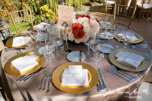 One & Only Palmilla champagne and gold wedding decor Cabo