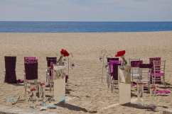 Los Cabos beach ceremony set-up