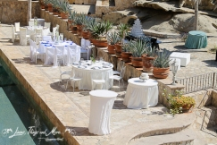 White on White wedding decor Cabo