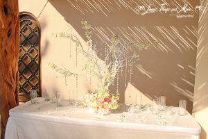 Crystal tree for entrance table