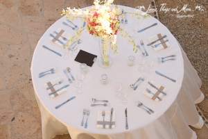 Off white and sand high end Cabo wedding table decor