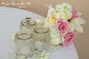 Cake table decor by Cabo Floral Studio
