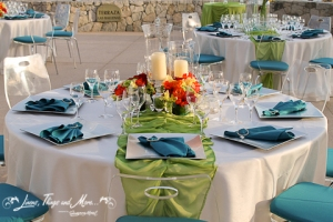 Fiesta Americana Teal and Green wedding decor