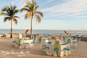 Fiesta Americana Teal and Green Cabo event decor