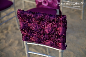 Deep purple chair cover Cabo