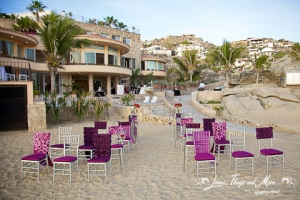 Private Villa on the beach wedding ceremony in Cabo