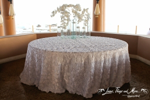 Custom wedding cake table for the Esperanza resort in Cabo