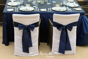 Custom chair cover for Esperanza resort wedding
