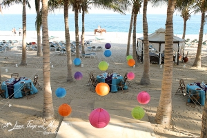 Colorful wedding decor at the RIU Palace