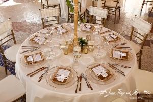 Wedding reception decor at Sunset Da MonaLisa Cabo