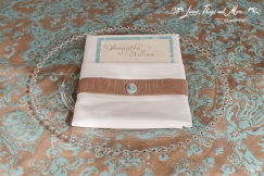 Aqua, Champagne and Lace wedding Napkins Cabo