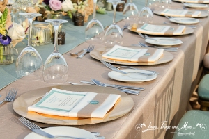 Aqua, Champagne and Lace wedding design in Cabo