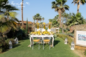 Flora Farm rustic event decor Cabo