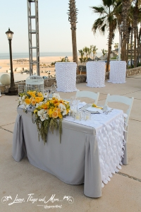 Bride and groom table and cocktail table - Hilton Los Cabos