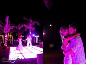 Dance floor and lightening designs for events and weddings in Cabo!