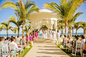 Destination wedding ceremony decor Barcelo Los Cabos