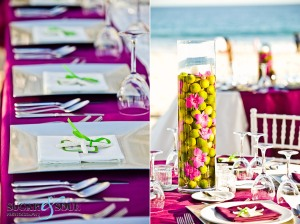 Unique wedding decor and flower design at Barcelo Los Cabos